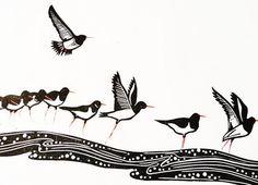 Oystercatchers: by Alison Deegan