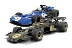 Tyrrell 003 & Lotus 72E | Scalextric slot cars