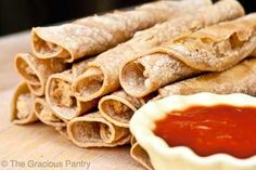 This Clean Eating Taquitos recipe is a fabulous substitute for the store-bought version. Cut out the junk, but still enjoy the yum! Clean Eating Recipes, Healthy Eating, Cooking Recipes, Eating Clean, Clean Foods, Mexican Food Recipes, Whole Food Recipes, Healthy Recipes, Taquitos Recipe