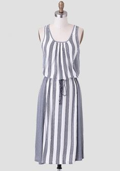 Starboard Striped Midi Dress.  Stylish and figure-flattering, especially for those of us with a few extra curves.  =)