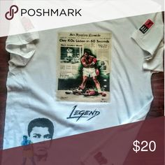 Muhammad Ali The Greatest The man who could back it up with a lot of talk. Tops Tees - Short Sleeve