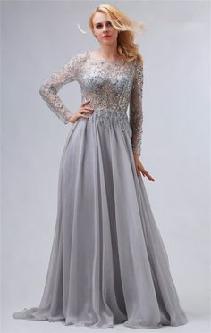 Silver Formal Dresses with Tulle