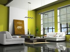 Living Room, Modern Green Living Room Colors: Modern Living Room Design For You To Choose Room Interior Design, Living Room Interior, Home Interior, Living Room Furniture, Asian Interior, Sofa Furniture, Simple Interior, Japanese Interior, Apartment Furniture