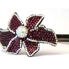 Bling Bling! Flower Headband with Purple ab Rhinestone. Perfect for Women, Teens & Girls, Bling Bling Hair Accessory