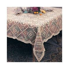Handmade, All-over Tuscany Lace Tablecloth. One piece . Oblong Tablecloth, Crochet Tablecloth, Hygge Home, Boho Home, Ecru Color, White Patterns, Shabby Chic Decor, Table Linens, Tuscany