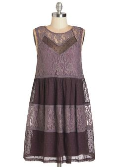 Free to Be Fanciful Dress - Purple, Solid, Lace, Casual, Boho, Festival, Sleeveless, Woven, Better, WPI, Colorblocking, Tent / Trapeze, Short