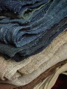 Lino grezzo per le tende e magari anche le tovaglie