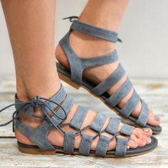 95a4fe5d43d5 Large Size PU Lace-up Roman Sandals Shoes Sandals
