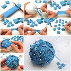 Cómo hacer bolas de Navidad para tu árbol | Aprender manualidades es facilisimo.com