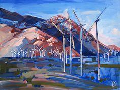 Erin Hanson: Windmills at Palm Springs