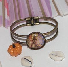 Ochun Oshun inspired modern bracelet by ModernOrisha on Etsy