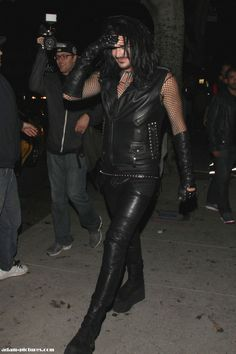 "Adam Lambert leaving Neil Patrick Harris Halloween Party ""David & Neil's Monster Mash""  in Hollywood 10-26-13"