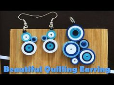 Art & Craft: How to make Colourful Quilling Earrings Paper Quilling  -Qu...