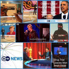 A look back at the #week on DWNews #ebola #Merkel #migrants #SOTU16 #Obama #Istanbul #DavidBowie #Berlin #OscarsNom #Revenant #drugtrial #France