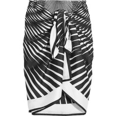 La Perla Op-Art printed satin-twill pareo (34.315 RUB) ❤ liked on Polyvore featuring skirts and la perla