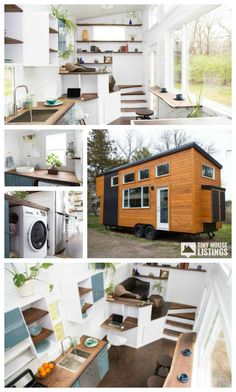 Gorgeous Tiny house on trailer for sale! This modern tiny house features 11 windows that allow maximum natural light as well as air flow through the house. Modern white shiplap and birch throughout interior, overhead dimmable LED lighting and engineered