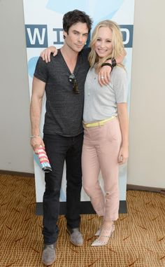 Damon and Caroline - Ian and Candice / He loves her life family, as well as the rest of the cast