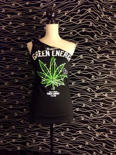 weed top womens support green energy 420 by sexystitchesnv on Etsy