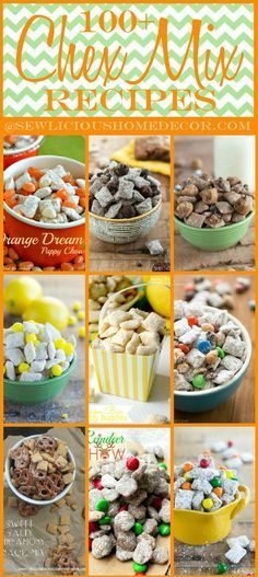 100 Party Chex Mix Recipes sewlicioushomedecor.com