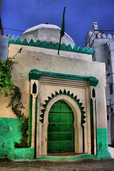Tangier, Morocco ( Henri Matisse Door in the Kasbah in Tangier, Morocco)