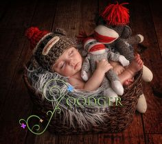 I wish I could crochet!!!  Crochet Pattern: Sock Monkey Cuddle Critter Cape by calleighsclips, $5.95