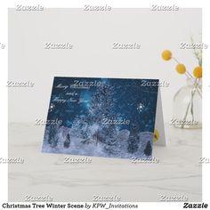 Christmas Tree Winter Scene Holiday Card