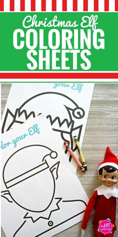 These Christmas Elf Coloring Sheets are fun for kids and adults. Download the free printable and let your kids color their Elf on the Shelf and draw in a fun face. They can also cut them out and create a fun puppet show or give them as a gift to their Elf on the Shelf. The ideas are endless. #ElfontheShelf #freePrintable #ChristmasElf #ElfontheShelfIdeas #FloridasNatural #ad via @mylifeandkids