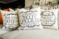 Potions Pillows - Wizard, Witch, Halloween, Magic, Gift for Her, Gift for Him, Christmas Gift, Home Decor, Handmade, Harry Potter Whether you're a Potterhead or not these pillows are a great addition to your Halloween decoration.....but if you are a big PottHead these are perfectly acceptable year round pillows!! affiliate