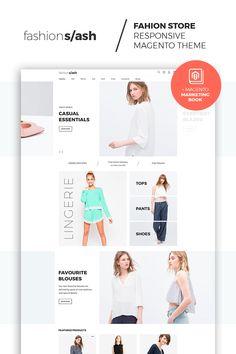 Multipurpose websites, e-commerce magento template at a pric Fashion Website Design, Website Design Inspiration, Design Ideas, Wordpress Website Design, Wordpress Theme Design, E Commerce, Online Web Design, Site Mode, Layout