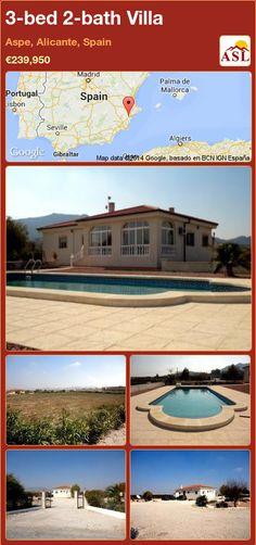 3-bed 2-bath Villa in Aspe, Alicante, Spain ►€239,950 #PropertyForSaleInSpain