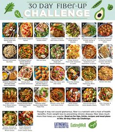 Though it may not sound glamorous, fiber is a nutrient with a host of health benefits. From weight loss to preventing chronic disease, fiber does much more than keep you regular. Read on for tips, tricks, recipes and meal plans in this Fiber Up Challenge. Fiber Diet, Fiber Rich Foods, High Fiber Foods, High Fiber Recipes, High Fiber Snacks, High Fiber Breakfast, Vegetable Quinoa, Vegetable Stew, Healthy Options