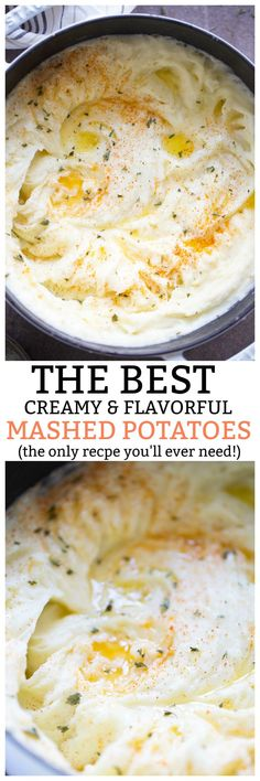 The BEST creamy, dreamy mashed potatoes. The only recipe you'll ever need! Plus a no-fail, step-by-step guide!