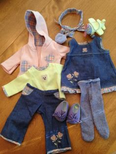 American Girl Bitty Baby Travel Two-in-One Set Retired Ag Dolls, Cute Dolls, Girl Dolls, American Girl Crafts, American Girls, Barbie Stuff, Doll Stuff, Doll Outfits, Baby Outfits