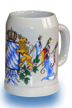"Small beer mug with ""only"" 0,5 liters, that's half the size of the official Oktoberfest mugs.   Great German gift."