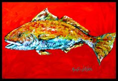 the-store.com - Fish - Red Fish Red Head Indoor or Outdoor Mat 18x27 MW1111MAT, $24.99 (http://the-store.com/products/fish-red-fish-red-head-indoor-or-outdoor-mat-18x27-mw1111mat.html)