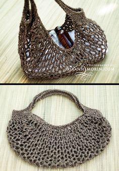 FREE crochet bag pattern. Love this for a pool/beach/shopping bag! http://www.ravelry.com/projects/BrightSkyDance/econo-shopper-mesh-bag