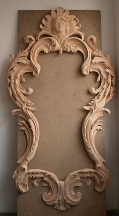 Unique Wood Carving Furniture for Your Home Decoration. Before entering the discussion I will provide an explanation of the benefits that are obtained when a person makes the . Wood Carving Art, Wood Art, Molduras Vintage, Carving Designs, Wood Sculpture, Wood Crafts, Wood Projects, Picture Frames, Decoration