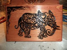 The elephant box - wood burned art  You can find more projects, ideas, health and wellness articles, and much more at the Bohemian Heart Workshop.