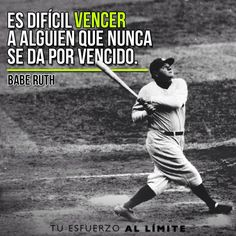 Es dificil vencer a alguien que nunca se da por vencido. #BabeRuth #Babe… Baseball Wallpaper, Mlb Wallpaper, Baseball Quotes, Baseball Cards, Wayne Enterprises, New York Yankees, Chicago Cubs, True Stories, Best Quotes