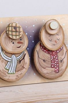 6 Amazing DIY Handmade Christmas Ornaments Design Ideas 6 Amazing DIY Handmade Christmas Ornaments D Homemade Christmas Crafts, Christmas Wood Crafts, Snowman Crafts, Christmas Projects, Holiday Crafts, Christmas Diy, Rustic Christmas, Xmas, Christmas Ornaments Handmade