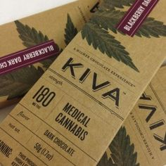 Kiva - Blackberry Dark Chocolate - 180mg THC