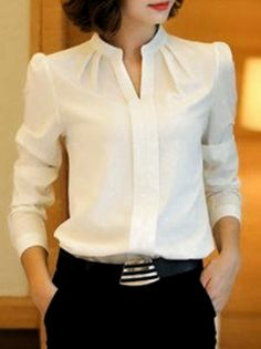 Tie Collar Hollow Out Plain Blouse With Tube – . Read more The post Tie Collar Hollow Out Plain Blouse With Tube – purple club appeared first on How To Be Trendy. Source by wanita Blouse Styles, Blouse Designs, Hijab Stile, Hijab Fashion, Fashion Outfits, Fashion Blouses, Mens Fashion, Blazer Fashion, Fashion Tips