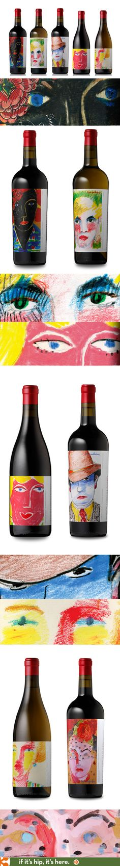 Francis Ford Coppola Limited Edition Reserve Wines with artwork by film production designer Dean Tavoularis on the labels.