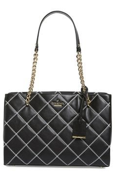 KATE SPADE NEW YORK 'Emerson Place - Small Phoebe' Quilted Leather Shoulder Bag…