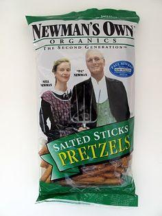 Newman's Own Organic Pretzels.