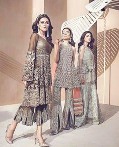 Latest peplum with flared culottes for Pakistani wedding brides Pakistani Wedding Outfits, Pakistani Dresses, Indian Dresses, Indian Outfits, Mehndi, Henna, Pakistani Couture, Pakistani Bridal, Asian Bridal Wear