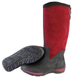 Muck Boots Women's Arctic Adventure Zip Suede Winter Boot - Black/Maroon (AAZ-600S) 1