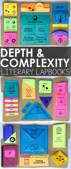 These Depth and Complexity Literary Lapbooks present a creative, engaging, and interactive way for your students to critically respond to ANY novel.