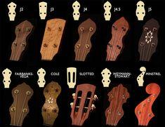 Peghead — J. Romero Banjos - Custom Banjos & Resophonic Guitars