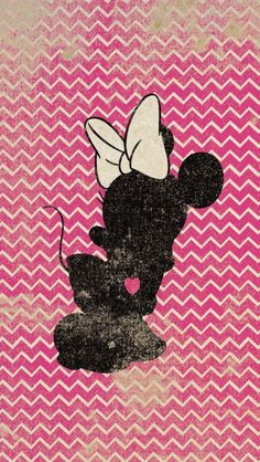 Bambi Tinkerbell Minnie Cheshire Silhouettes On Chevron Background 4 11X17 Art Prints With He